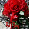 """ Red Bling "" _____medium size    _bouquets are made to order and may differ slightly, due to availability of materials."